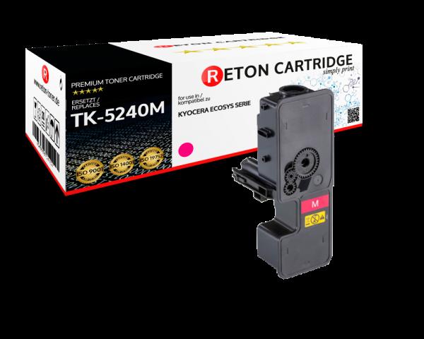 Original Reton Toner | 50% höhere Druckleistung | ersetzt Kyocera TK-5240M magenta