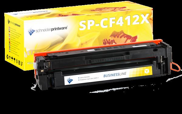 Hochleistungs-Toner +25% mehr Druckleistung ersetzt HP CF412X / 412X gelb