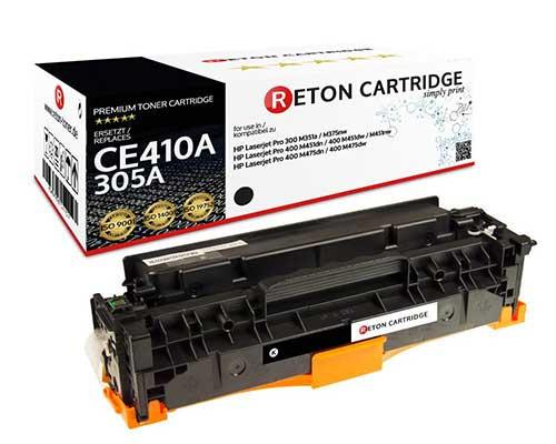 Original Reton Toner +35% mehr Druckleistung ersetzt hp CE410A / 305A schwarz