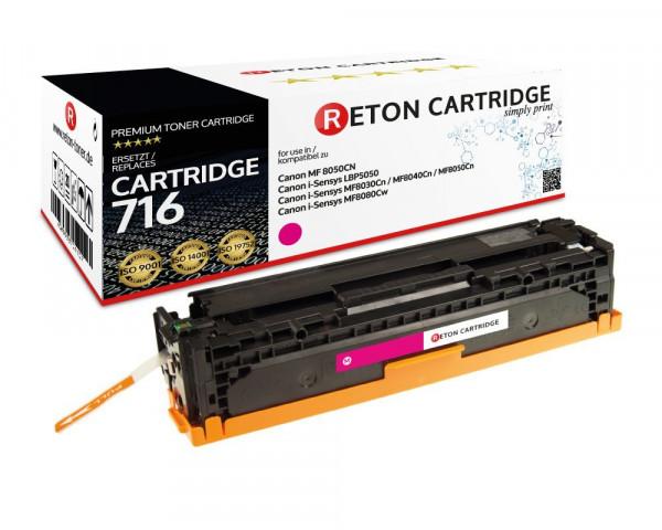 Reton Toner +35% mehr Druckleistung ersetzt Canon 716M magenta, 1.900 Seiten