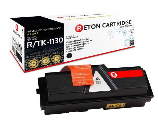 Original Reton Toner ersetzt Kyocera TK-1130 schwarz (3.000 Seiten)