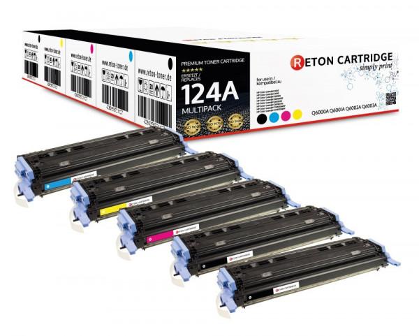 5 Original Reton Toner ersetzen HP Q6000A,Q6001A,Q6002A,Q6003A