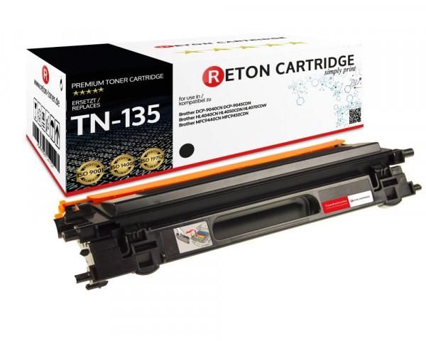 Original Reton Toner ersetzt Brother TN-135BK schwarz
