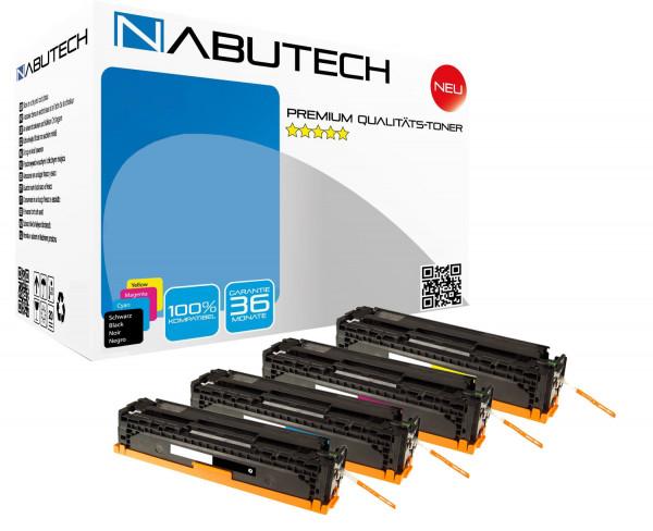 4 Nabutech Toner +35% mehr Druckleistung ersetzen Canon 731H,731C,731M,731Y