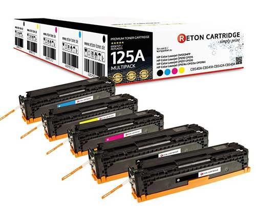 5 Reton Toner ersetzen hp 125A / CB540A,CB541A,CB542A,CB543A