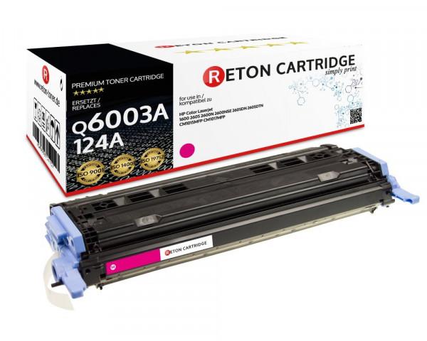 Original Reton Toner ersetzt HP 124A / Q6003A magenta