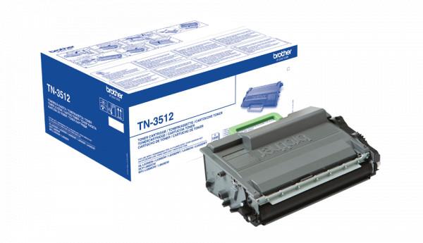 Brother TN-3512 Toner schwarz (12.000 Seiten) - in weißem Umkarton
