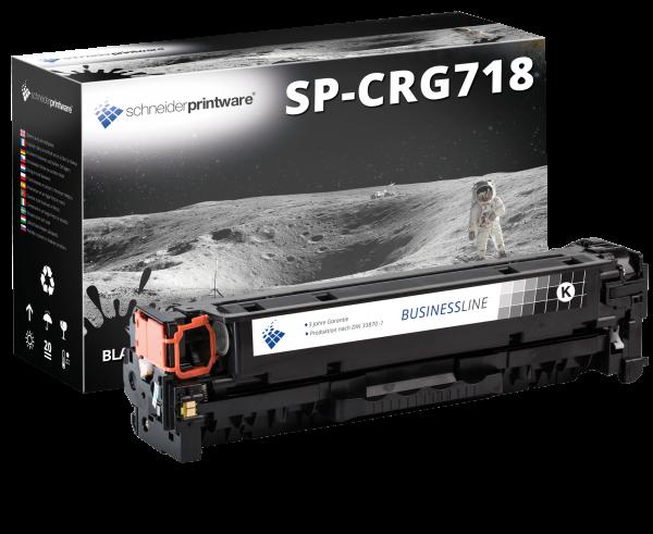 Schneiderprintware Toner +35% mehr Druckleistung ersetzt Canon 718BK schwarz, 4.600 Seiten