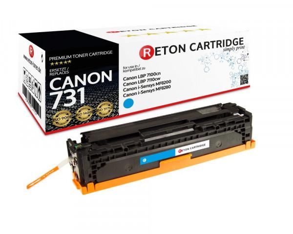 Original Reton Toner ersetzt Canon 731C cyan, 1.500 Seiten