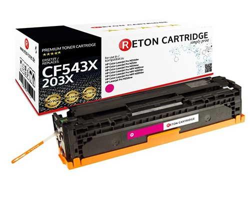 Original Reton Toner |40% höhere Druckleistung | ersetzt HP 203X, CF543X Magenta