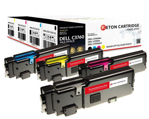 4x Businessline Toner ersetzen Dell C3760DN