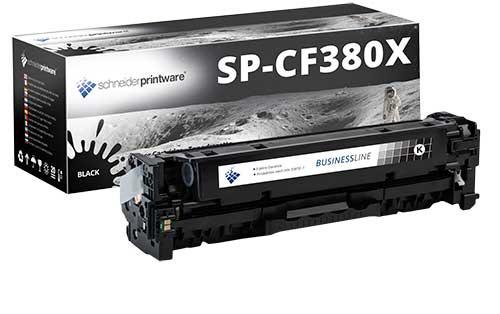 Hochleistungs-Toner +30% mehr Druckleistung ersetzt HP 312A / CF380X schwarz