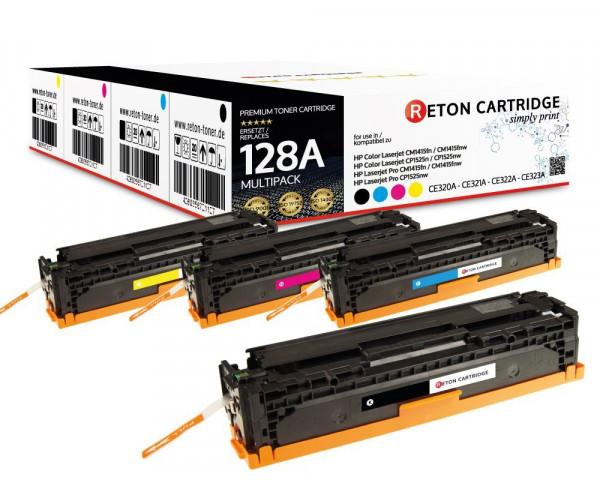4 Toner ersetzen hp 128A / CE320A,CE321A,CE322A,CE323A