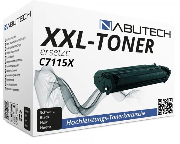 Nabutech Toner +50% mehr Druckleistung ersetzt HP C7115X/ Canon EP-25 (4.900 Seiten)