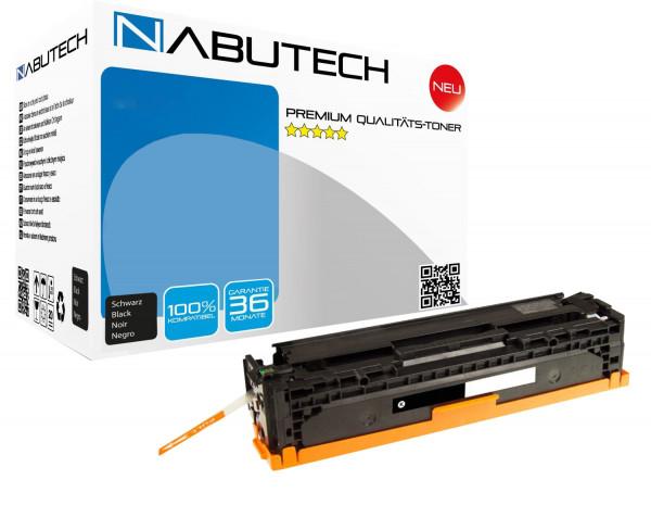 Nabutech Toner +35% mehr Druckleistung ersetzen Canon 718BK schwarz, 4.600 Seiten