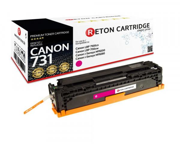 Original Reton Toner ersetzt Canon 731m magenta, 1.500 Seiten