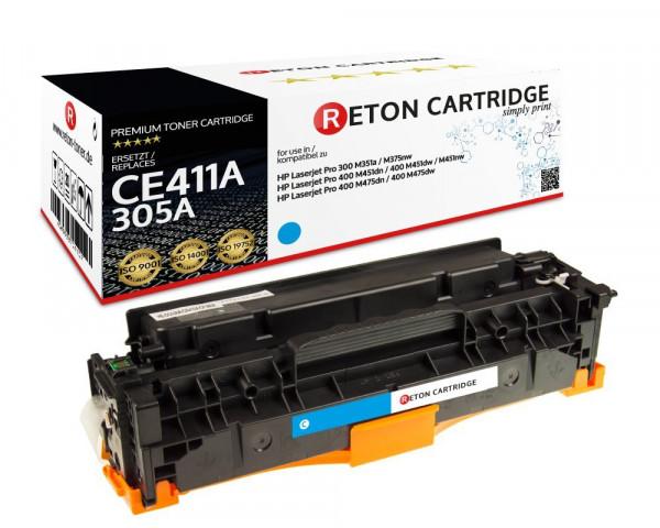 Original Reton Toner +35% mehr Druckleistung ersetzt hp CE411A / 305A cyan